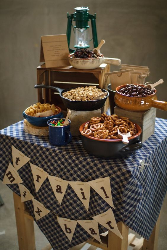 Trail Mix Bar | Camping Party Ideas | Pretty My Party