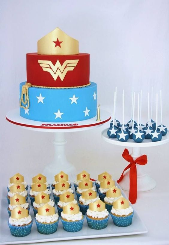 Wonder Woman Desserts | Wonder Woman Party Ideas