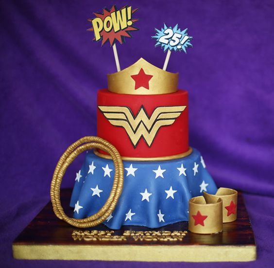 Wonder Woman Cake | Wonder Woman Party Ideas