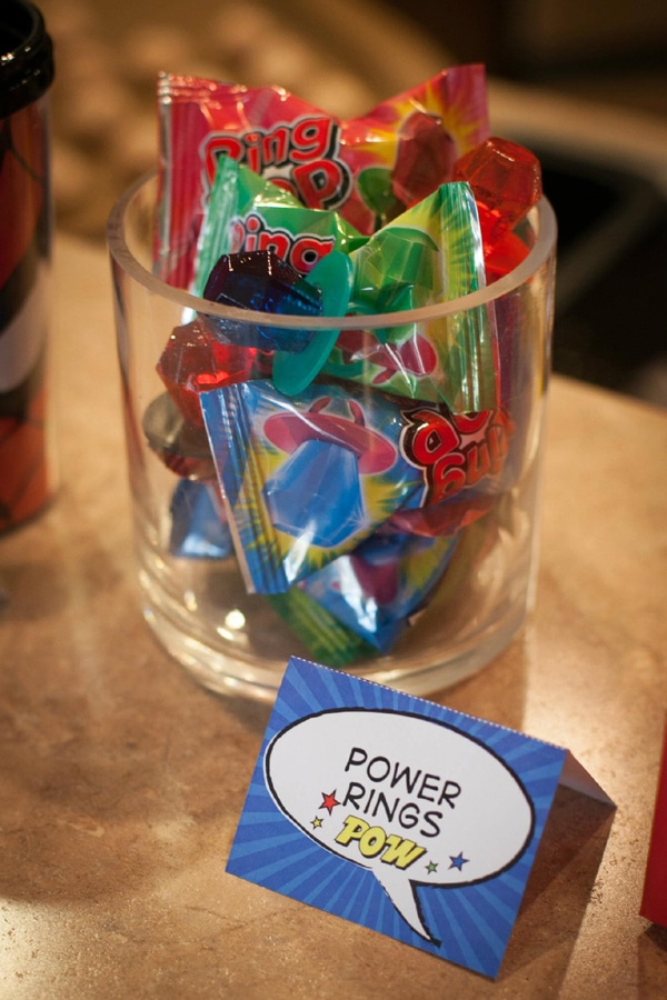 Power Rings | Wonder Woman Party Ideas