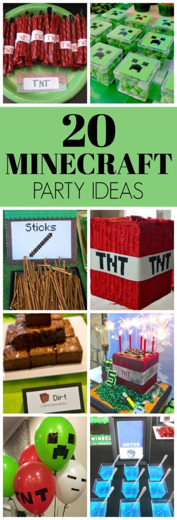 20 Awesome Minecraft Party Ideas - Pretty My Party