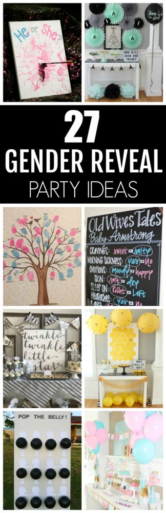 Unique and creative gender reveal party ideas from Pretty My Party.