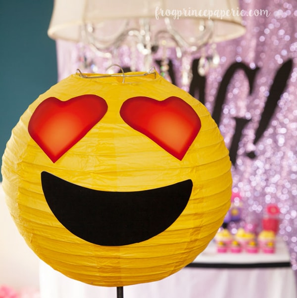 DIY Emoji Paper Lanterns | Emoji Birthday Party Ideas