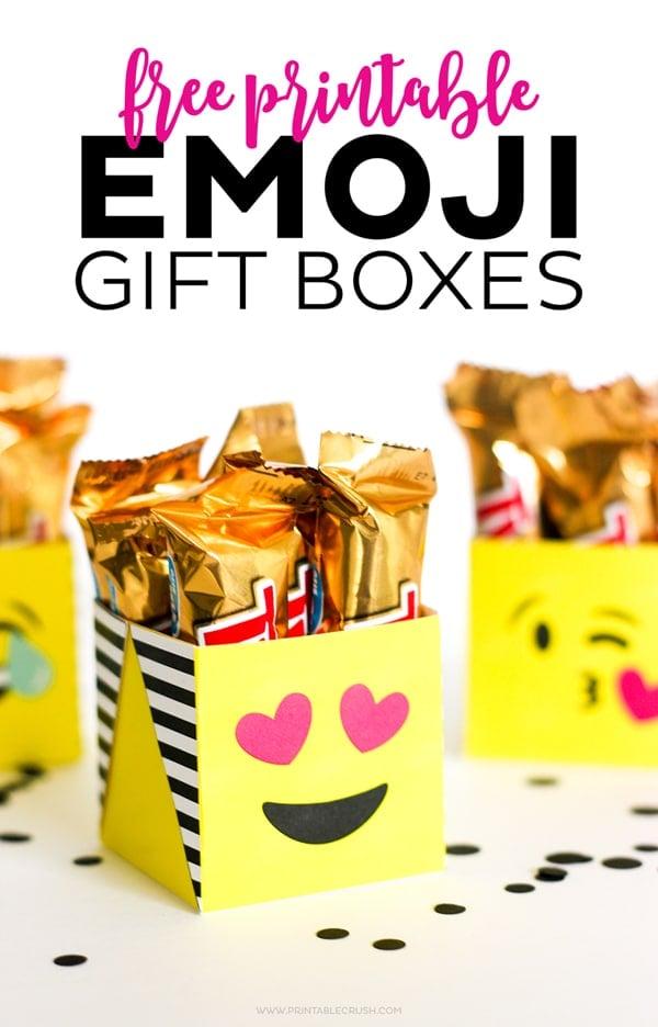 Free Printable Emoji Gift Boxes | Emoji Birthday Party Ideas