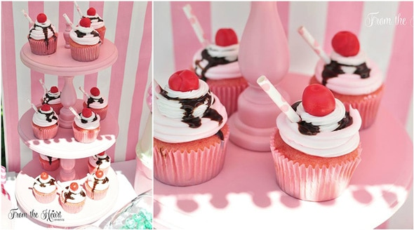 Vintage Ice Cream Birthday Party featured on Pretty My Party