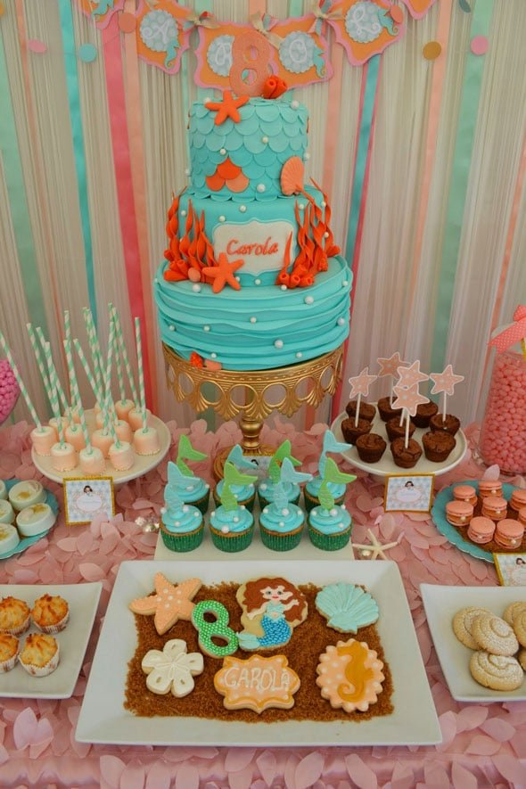 Mermaid Party Ideas | Mermaid Cake and Desserts