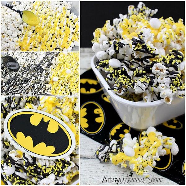 Lego Batman Inspired Popcorn   Batman Party Ideas