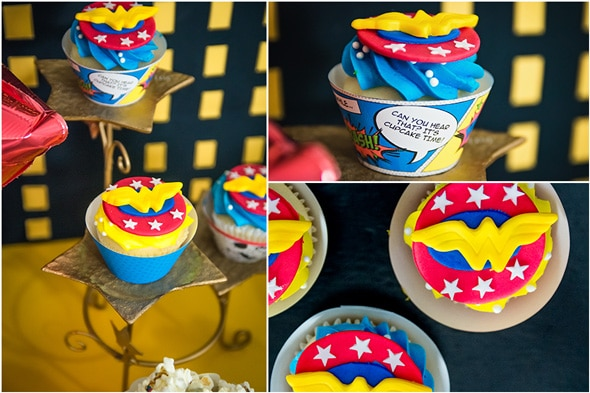 Wonder Woman Birthday Party Cupcakes | Pretty My Party