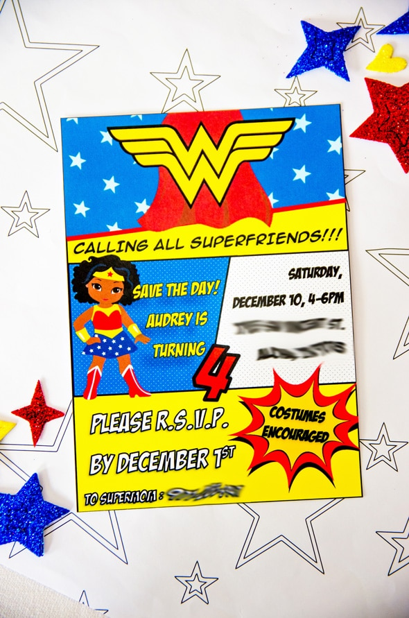Wonder Woman Birthday Party Invitation | Pretty My Party