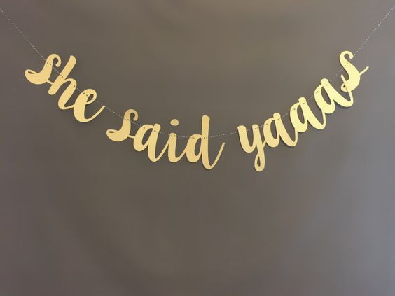 She Said Yes Banner | Bachelorette Party Ideas