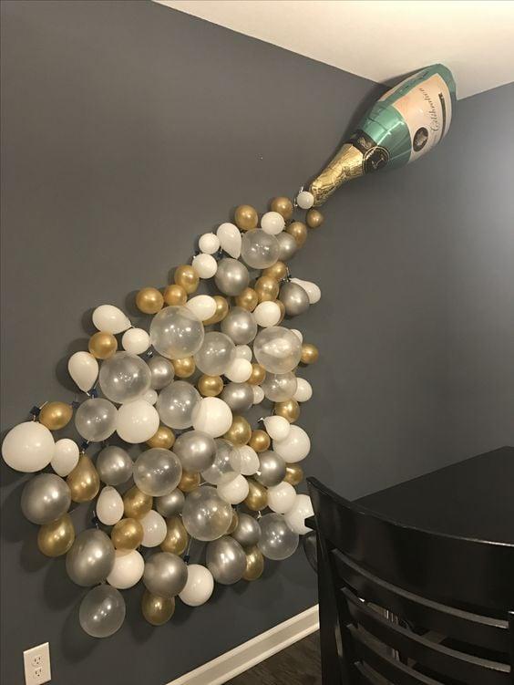 Bachelorette Champagne Balloon Party Decoration - Fun DIY Bachelorette Party Ideas