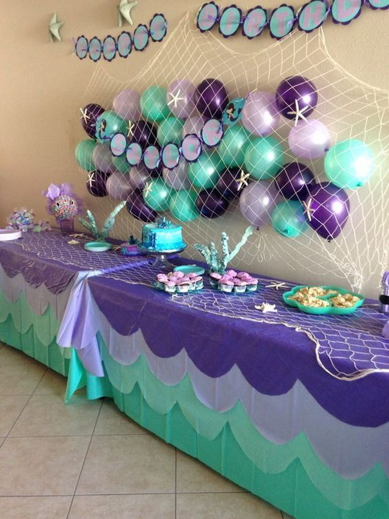 Mermaid Party Food Table Idea