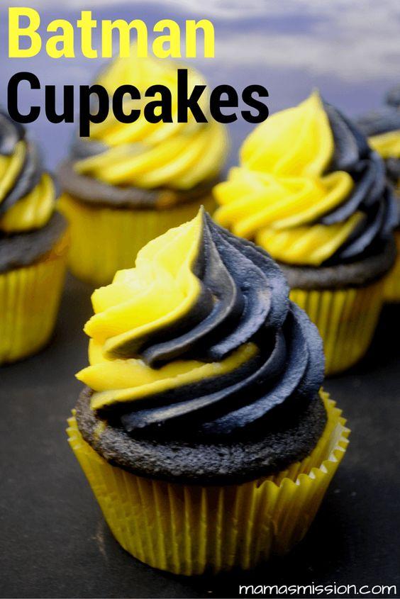 Batman Cupcakes   Batman Party Ideas