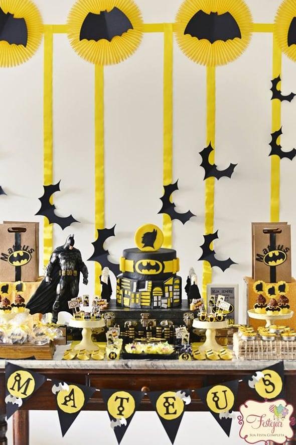 Batman Sweets Table   Batman Party Ideas