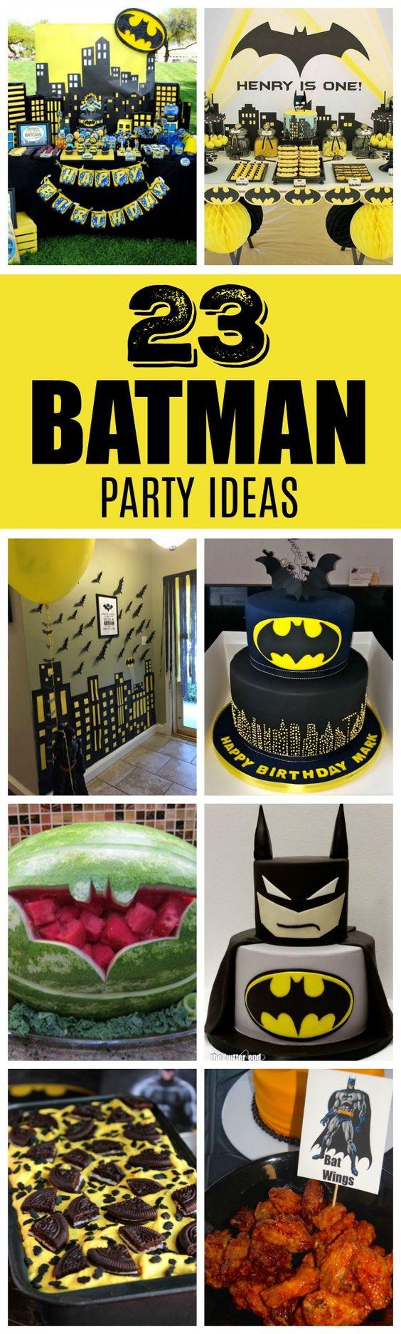 23 Incredible Batman Party Ideas - Pretty My Party