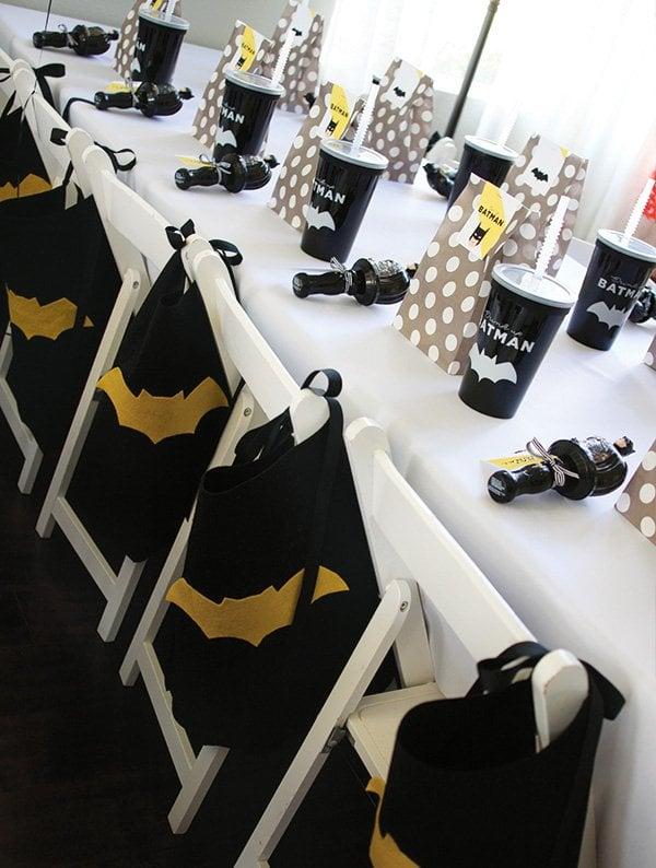 Batman Party Ideas   Caped Chairs