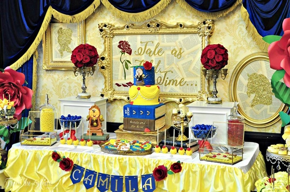 Beauty and the Beast Birthday Celebration | Pretty My Party