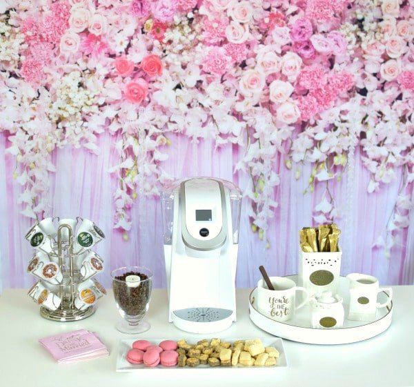 How to set up a Bridal Shower Coffee Bar | Pretty My Party