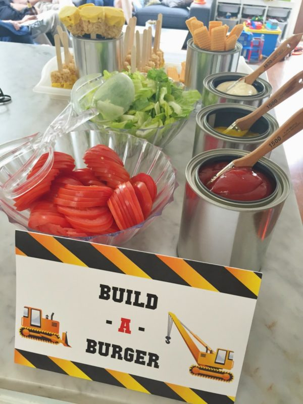 Construction Party Food - Build a Burger Station
