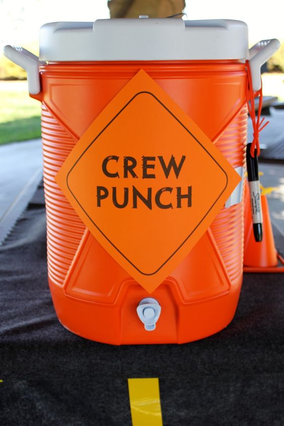 Construction Party Ideas - Crew Punch