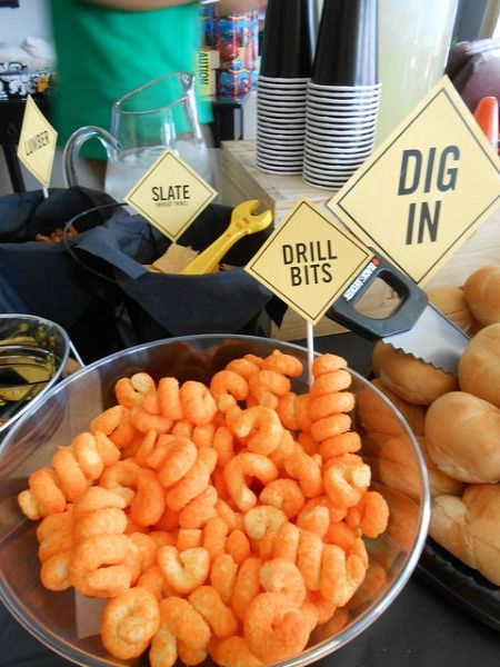 Construction Party Ideas - Drill Bit Snacks