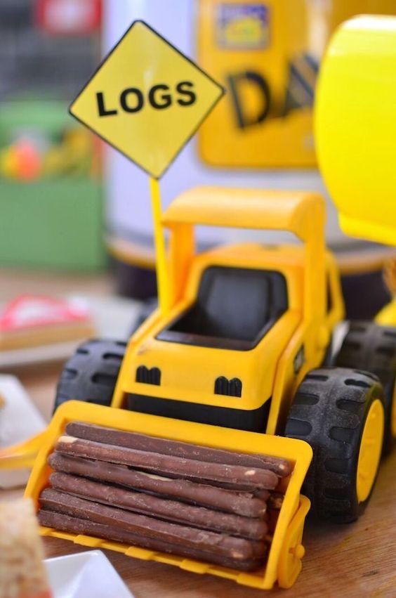 Construction Party Ideas   Logs