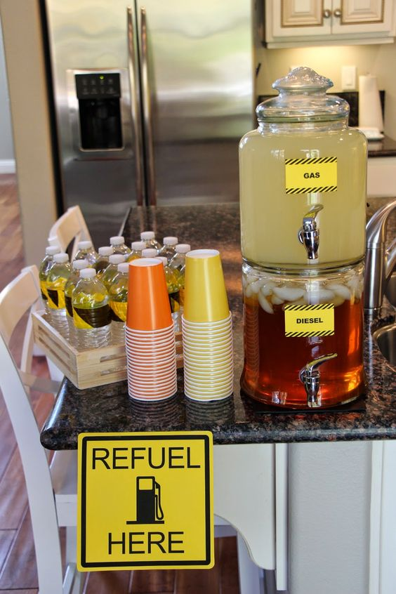 Construction Birthday Party Ideas - Refuel Station