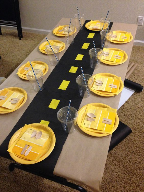 Construction Party Table Idea
