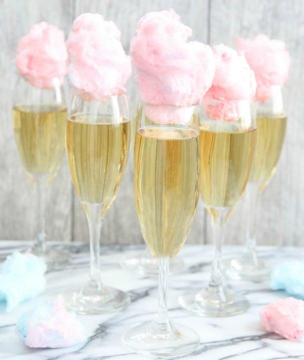 Cotton Candy Champagne | Bachelorette Party Ideas