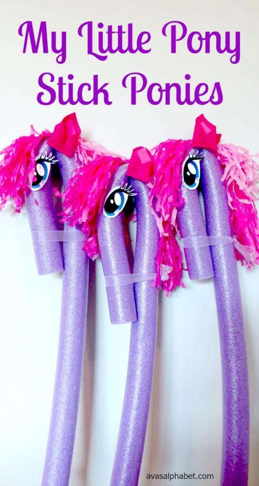 DIY My Little Pony Stick Ponies | My Little Pony Party Ideas