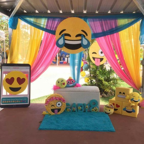 30 emoji birthday party ideas pretty my party for Decoration emoji