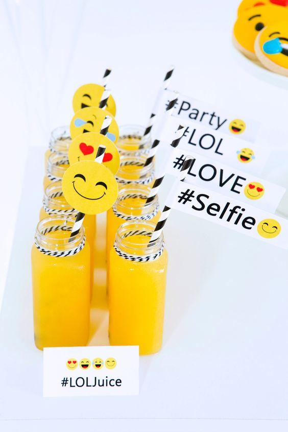 Emoji Party Drinks | Emoji Birthday Party Ideas