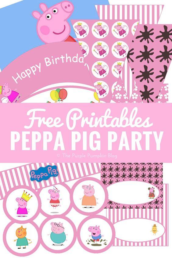 Free Peppa Pig Birthday Printables
