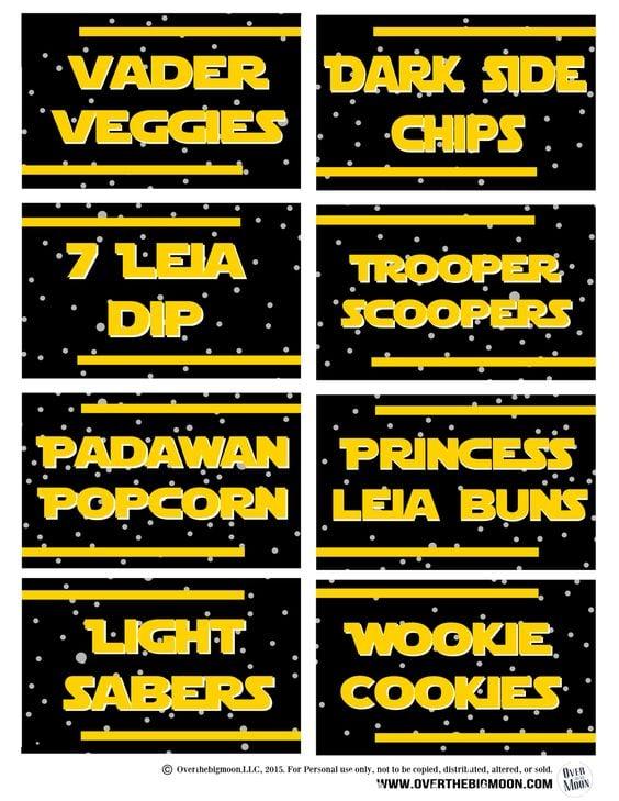 photograph regarding Star Wars Free Printable named 27 Star Wars Birthday Get together Tips - Wonderful My Get together