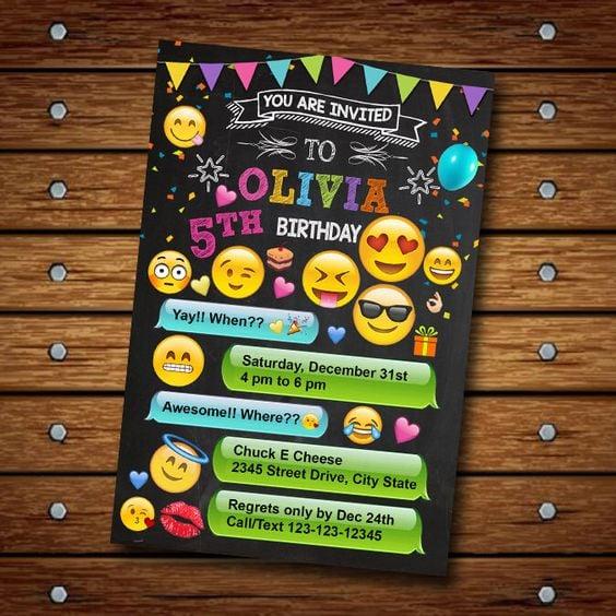 Emoji Party Invitation | Emoji Birthday Party Ideas