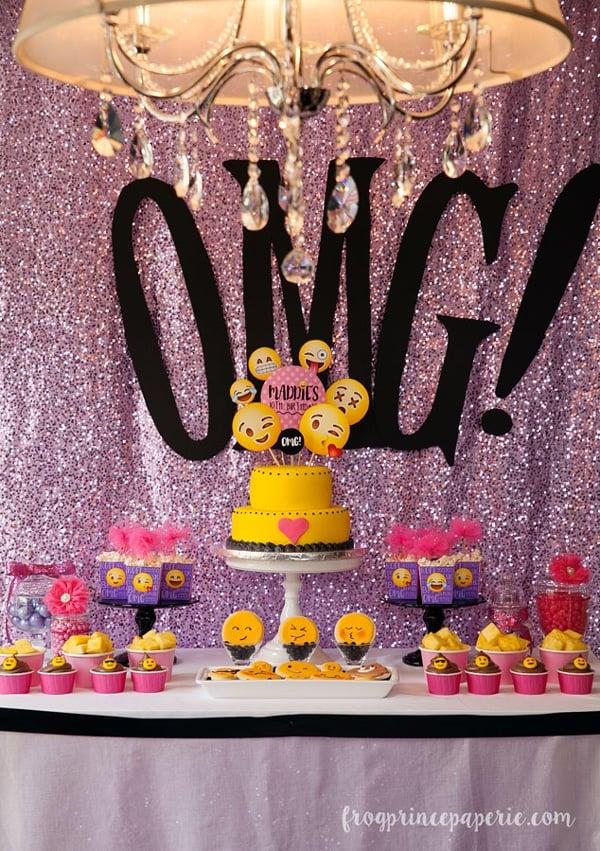 Glam Emoji Dessert Table | Emoji Birthday Party Ideas