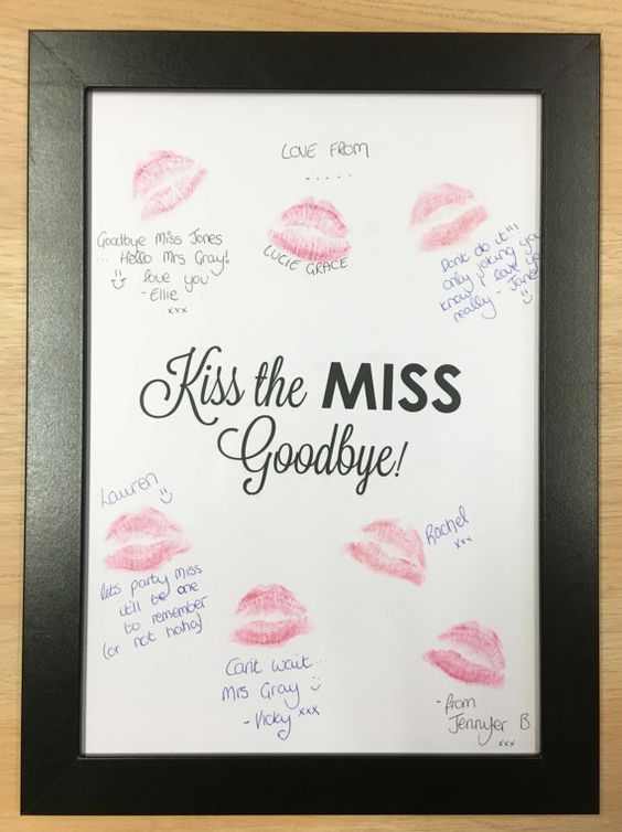 Kiss The Miss Goodbye Keepsake