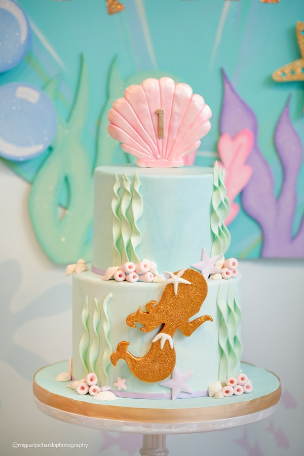 Magical Mermaid First Birthday Party Birthday Cake