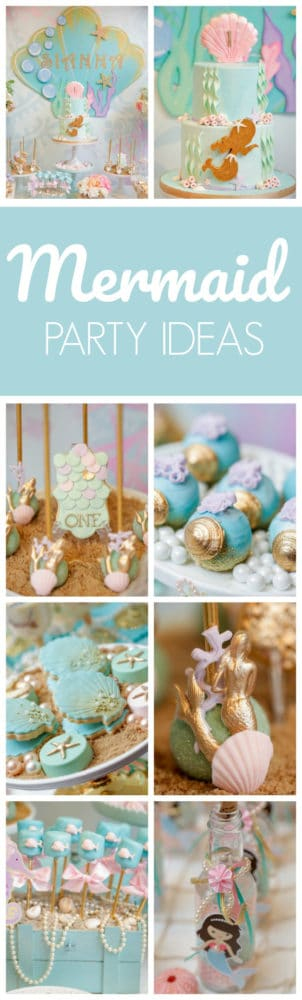 Magical Mermaid First Birthday Party featured on Pretty My Party