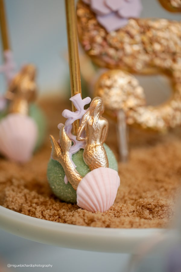Magical Mermaid First Birthday Party Cake Pop