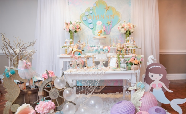 Magical Mermaid First Birthday Party