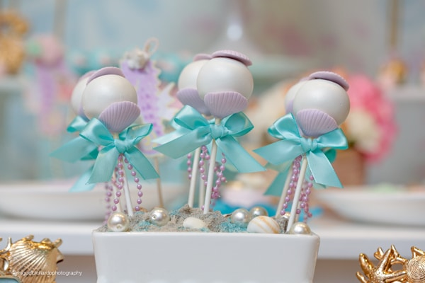 Magical Mermaid First Birthday Party Sweets