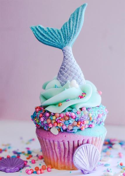Mermaid Party Ideas | Cupcakes