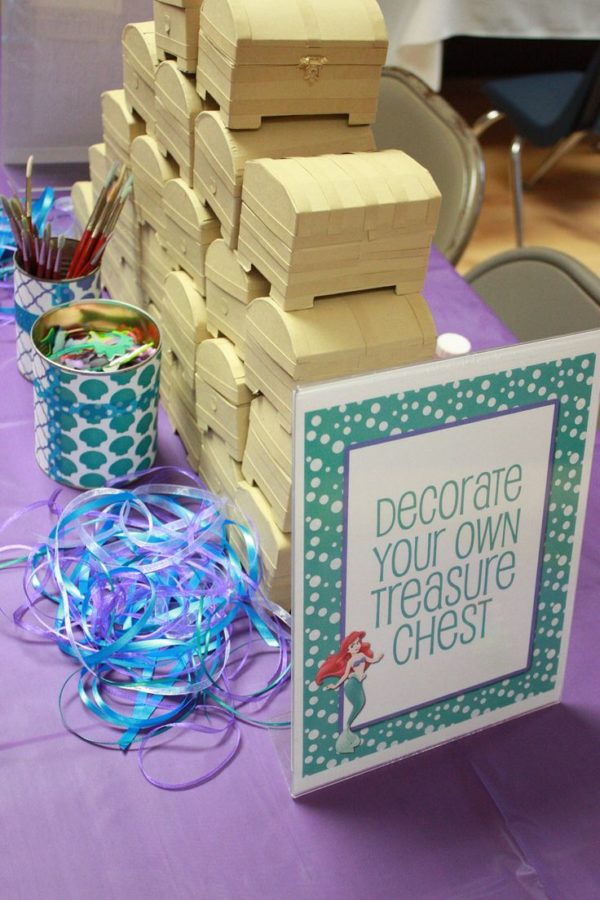 Decorate a Treasure Chest - Mermaid Themed Party Ideas
