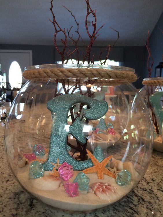 DIY Mermaid Party Centerpiece