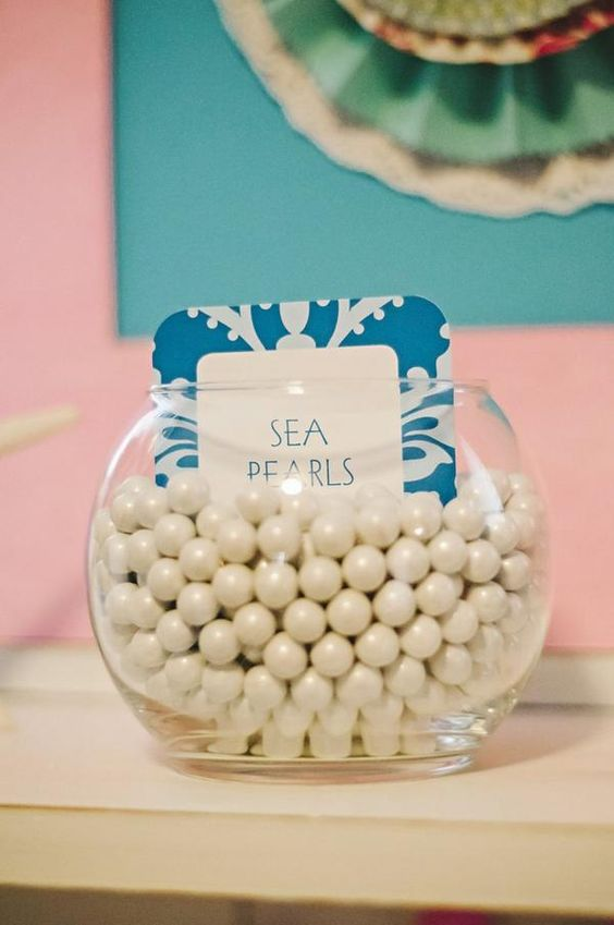 Mermaid Party Ideas - Sea Pearls Candy