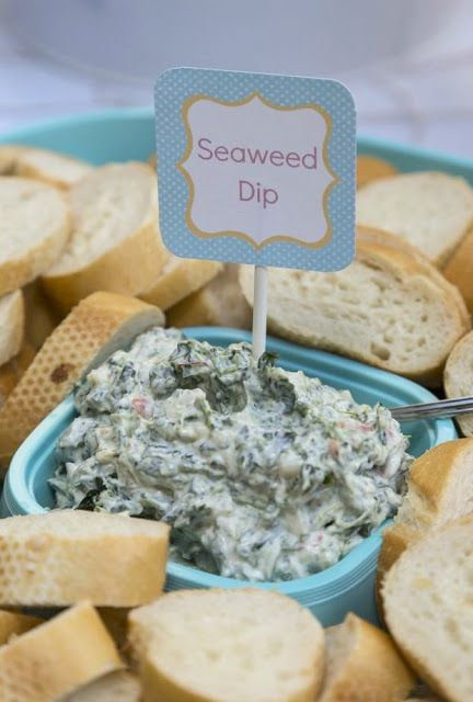 Seaweed Spinach Di[ | Mermaid Party Ideas