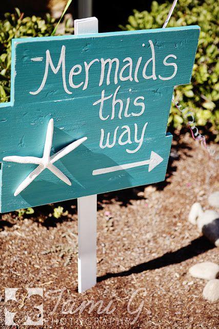 DIY Mermaid Party Sign