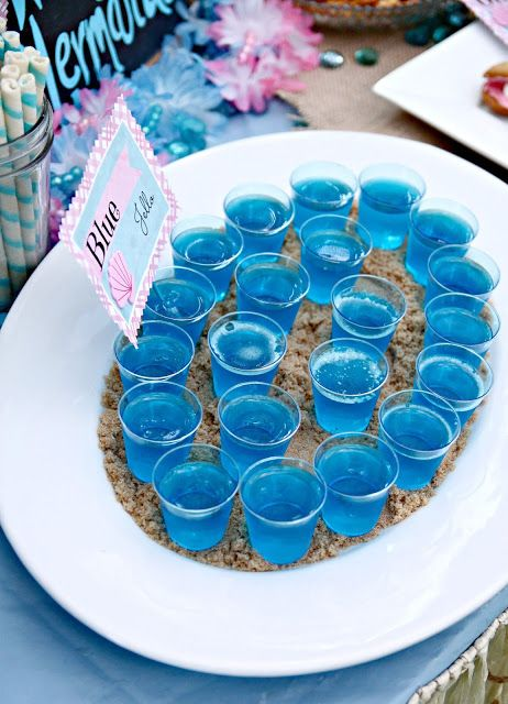 Blue Jello - Mermaid Party Food Idea