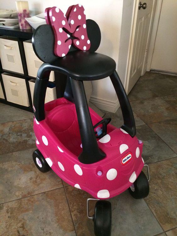 DIY Minnie Mouse car